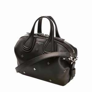 Givenchy Nightingale Leather Studded Satchel in Black