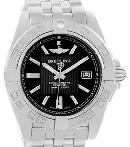 Breitling Breitling Cockpit Steel Black Dial Womens Watch A71356 Box Papers