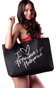 Frederick's of Hollywood Eco Friendly Save Plastic Tote in Black/Silver Glitter