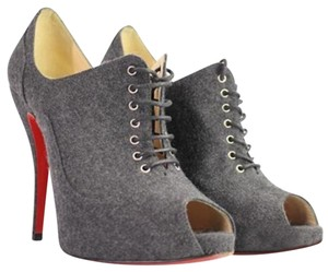 Christian Louboutin Wool Fabric Bootie Booty Pumps