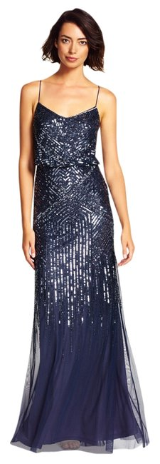 Preload https://img-static.tradesy.com/item/19828579/adrianna-papell-midnight-blue-sequin-blouson-gown-long-formal-dress-size-14-l-0-1-650-650.jpg