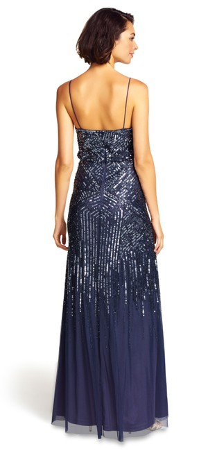 Adrianna Papell Sequin Embellished Beaded Gown Dress Image 1