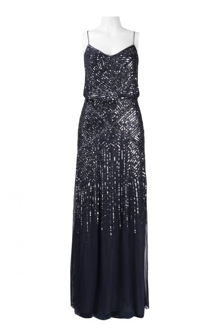Adrianna Papell Sequin Embellished Beaded Gown Dress Image 2