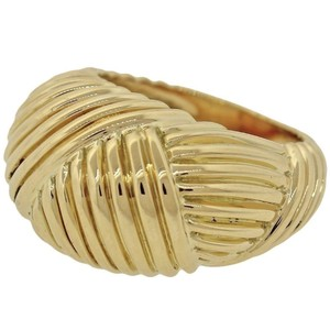 Tiffany & Co. Tiffany & Co. 18K Solid Yellow Gold Ribbed Dome Cocktail Ring
