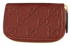 Gucci New Brick Brown Guccissima Leather Coin Purse Wallet 324801 6117