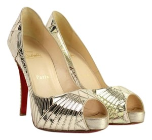 Christian Louboutin Laser Etched Peep Toe Pumps