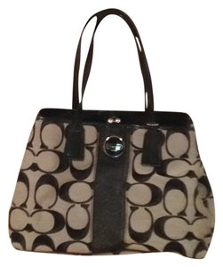 Coach and Four Tote in Black/grey Pattern
