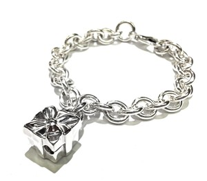Tiffany & Co. Tiffany & Co Sterling Silver Gift Box Charm Bracelet 7
