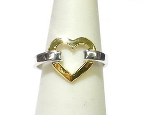 Tiffany & Co. Tiffany & Co 18 Karat Yellow Gold & Sterling Silver Heart Ring
