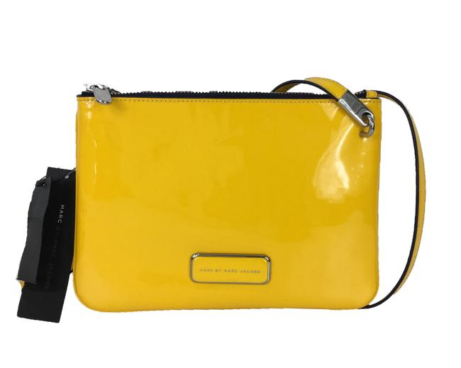 Item - Ligero Double Percy Yellow Patent Leather Cross Body Bag