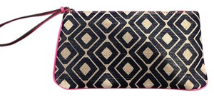 Ann Taylor LOFT Wristlet in Navy, white and pink
