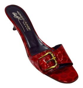 Donald J. Pliner Alligator Red Sandals