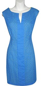 Donna Ricco short dress Blue Lime on Tradesy