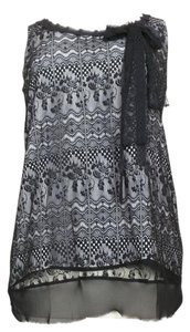 CAbi Lace Crocheted Sleeveless Top black