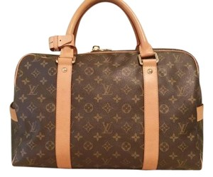 Louis Vuitton Carryall Brown Travel Bag