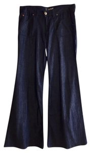 Hudson Jeans Paige True Religion 7 For All Mankind 7fam Citizens Of Humanity Trouser/Wide Leg Jeans-Dark Rinse