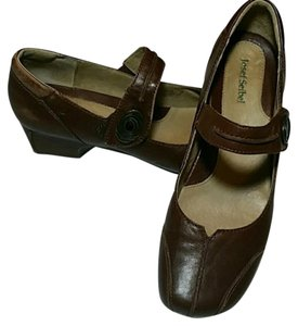 Josef Seibel Casual Leather Padded Velcro Brown Pumps