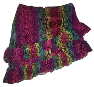 Betsey Johnson Mini Skirt Multi-color