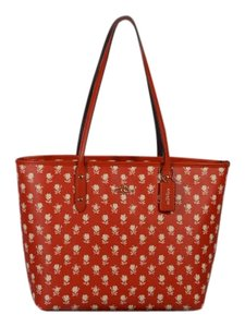 Coach Floral New Tote in Red