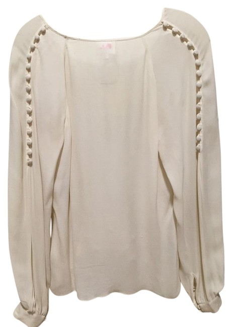 Preload https://img-static.tradesy.com/item/19829396/parker-creamwhite-silk-with-button-blouse-size-2-xs-0-2-650-650.jpg