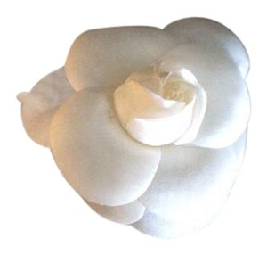 Chanel Camellia White Silk Brooch Pin ** Special**