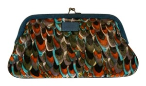 Lulu Guinness Velvet Peacock Multi Clutch
