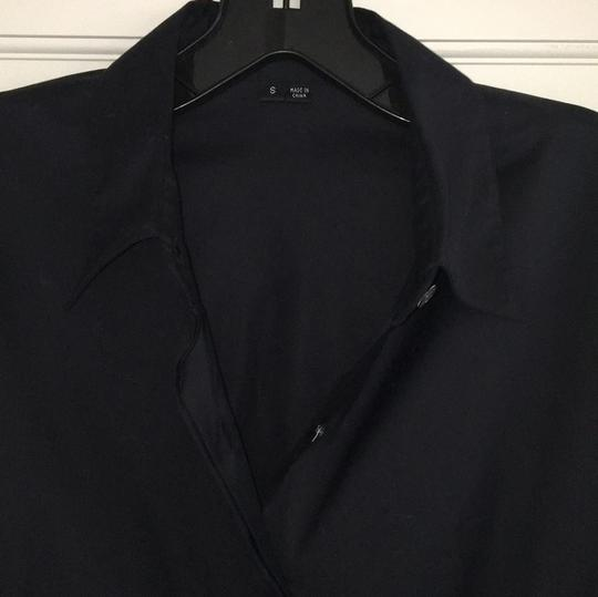 Theory Black Button Down Shirt - 84% Off Retail lovely