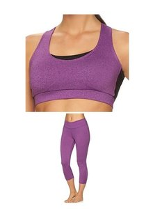 Gaiam Om Yoga Capri Leggings with Sports Bra