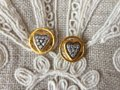 GURHAN Gurhan 24K Gold and Diamond Heart Earrings Image 2