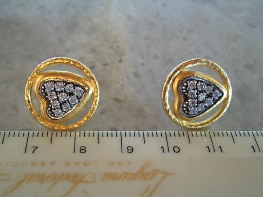 GURHAN Gurhan 24K Gold and Diamond Heart Earrings Image 5