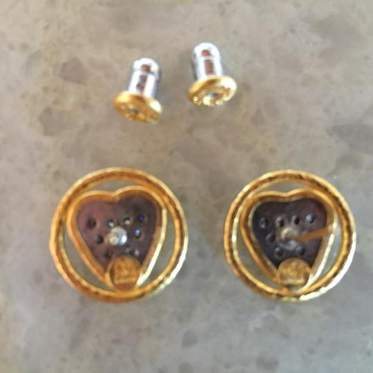 GURHAN Gurhan 24K Gold and Diamond Heart Earrings Image 6