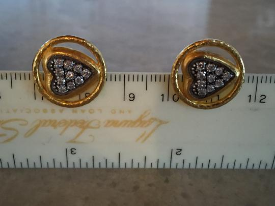 GURHAN Gurhan 24K Gold and Diamond Heart Earrings Image 7