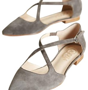 Anthropologie Taupe Flats