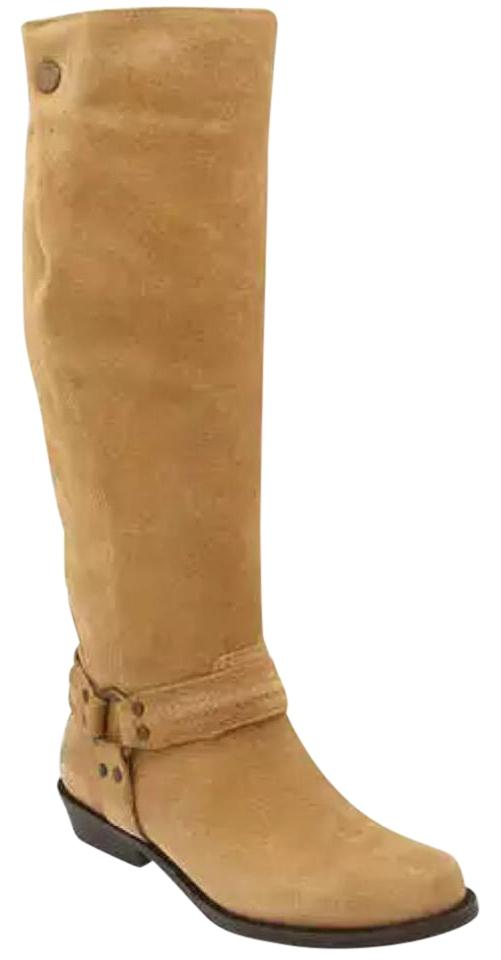 2a6f258274c Franco Sarto Camel Larriat Harness Knee Boots Booties. Size  US 8.5 Regular  (M ...