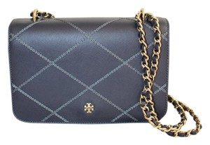 Tory Burch Blue Convertable Cross Body Bag