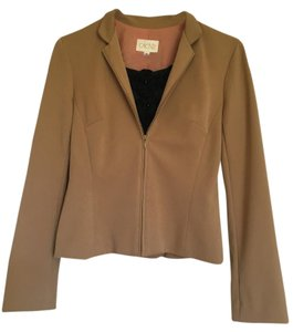 Cache Cache zip up tan or camel jacket