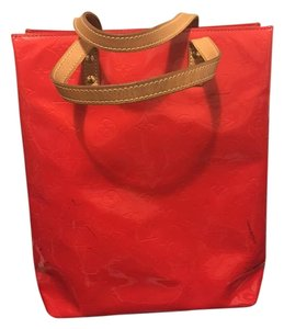 Louis Vuitton Vernis Red Rare Tote