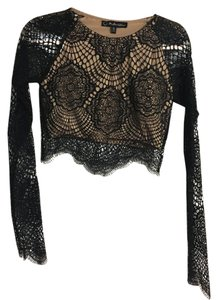 For Love & Lemons Lace Date Top Black