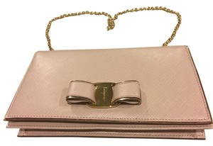 Salvatore Ferragamo Leather Gold Chain Macaron Shoulder Bag