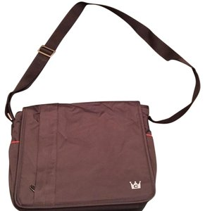 Crown Case Brown With Orange Messenger Bag