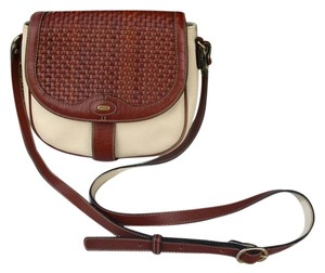 Bally Woven Leather Two-tone Cross Body Bag