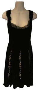 Beau Bois Velvet Embroidered Lace Beaded Anthropologie Dress
