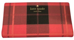 Kate Spade Stacy Plaid Red Clutch