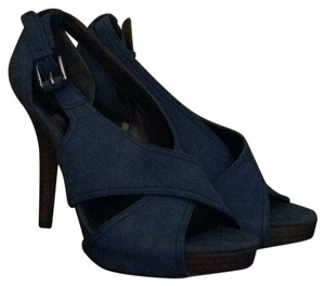 Coach Heels Blue Platforms