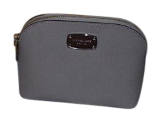 Item - Pearl Grey Cindy Travel/Make Up Pouch Saffaino Leather Cosmetic Bag