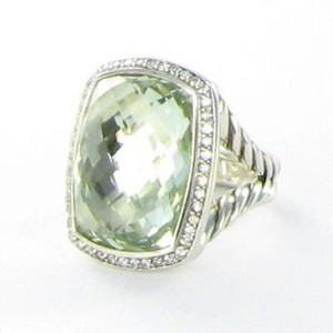 David Yurman David Yurman Albion 20x15mm Prasiolite Diamond 0.39cts Ring Sterling