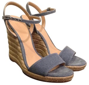 Barneys New York Denim Wedges