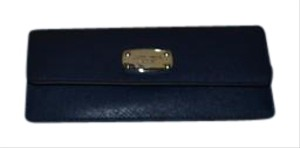 Michael Kors Michael KORS Jet Set Travel Slim Flat Saffiano Leather Navy Wallet