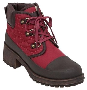 Lucky Brand Lucky Akonn Quilted City Hiker Ankle wine Boots