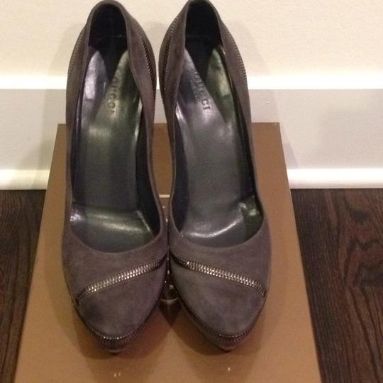 Gucci Grey Pumps Image 1